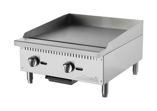 "Migali C-G24 Competitor Series 24"" Wide Stainless Steel  Manual Griddle"