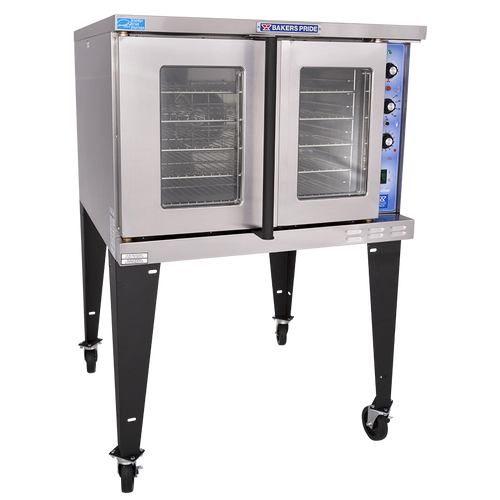 Bakers Pride GDCO-E1 Full Size One (1) Deck Stainless Steel Cyclone Series Electric Convection Ovens | Single-Stacked Pizza Ovens with Thermal Glass, Synchronized Doors & Energy Star