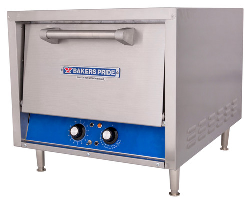 Bakers Pride P18S Double Deck HearthBake Series Countertop Electric Pizza Bake Ovens | Stainless Steel Commercial Pizza / Pretzel Ovens with Two (2) Cordierite Ceramic Hearth Decks & One (1) Baking Chamber