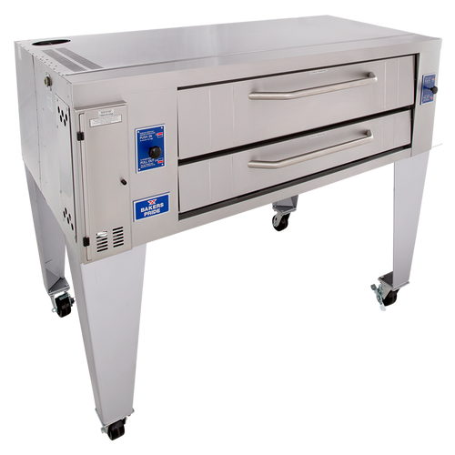 """Bakers Pride Y-600BL One 7.5"""" Deck High Super Deck Series Stainless Steel Gas Pizza Bake Ovens 