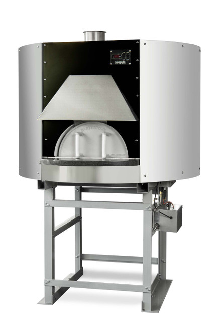 """Earthstone 110-PAGW Pre-Assembled Gas/Wood Fired Commercial Pizza Ovens with Pierre de Boulanger 