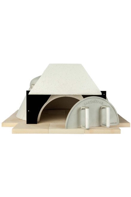 """Earthstone Model 90 Modular Wood Fired Commercial Pizza Ovens with Pierre de Boulanger   Bake Ovens with Bakers Tiles, 3 (8"""") Pizza Capacity and 35 inch Cooking Area Diameter"""
