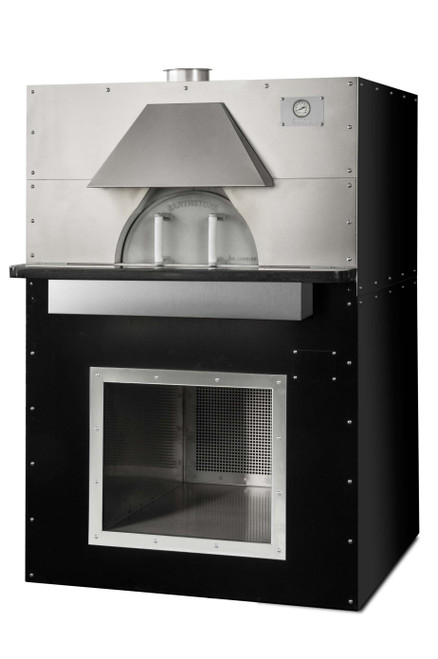 """Earthstone Cafe-PA Pre-Assembled Wood Fired Commercial Pizza Ovens with Pierre de Boulanger   Bake Ovens with Bakers Tiles, 3 (8"""") Pizza Capacity, 35 inch Cooking Diameter and 20""""W x 9.5""""H Single Oven Entrance"""