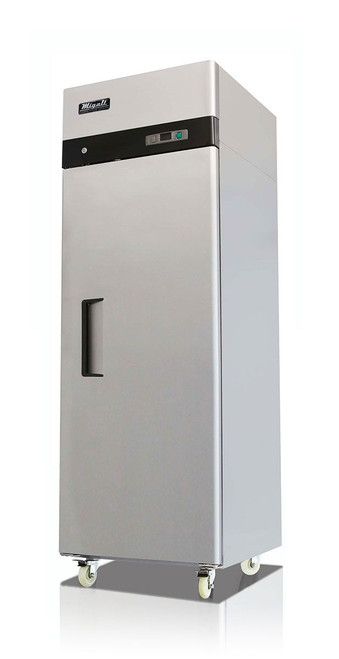 """Migali C-1R-HC - One Section Solid Right Hand Hinged Door 23 cu ft 28.7""""W Stainless Steel Competitor Series Top Mounted Reach-In Refrigerators 