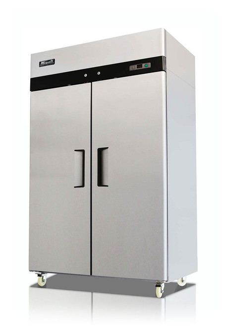 Migali C-2R-HC Competitor Series 2 Door Stainless Steel Reach-In Refrigerator