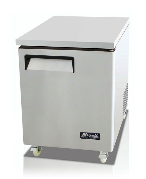 "Migali C-U27R-HC Competitor Series 27"" Under-Counter & Work Top Stainless Steel Refrigerator"