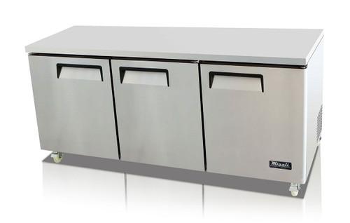 "Migali C-U72R-HC Competitor Series 72"" Under-Counter & Work Top Stainless Steel Refrigerator"