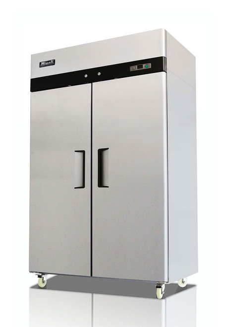 Migali C-2F-HC Competitor Series 2 Door Stainless Steel Reach-In Freezer