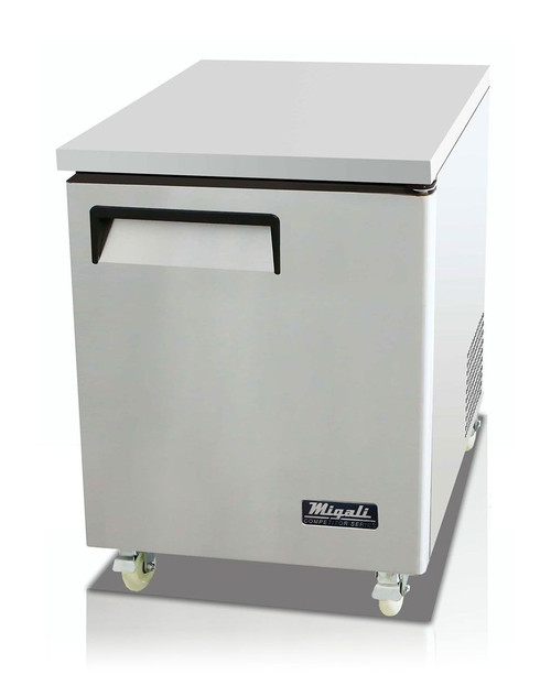 "Migali C-U27F-HC Competitor Series 27"" Under-Counter & Work Top Stainless Steel Freezer"