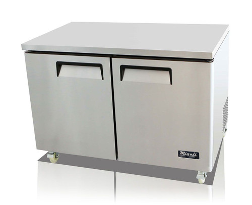 "Migali C-U48F-HC Competitor Series 48"" Under-Counter & Work Top Stainless Steel Freezer"
