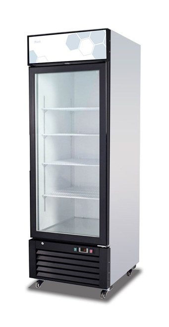 "Migali C-23RM-HC One Section Hinged Glass Door 23 cu ft 27""W White Coated Steel Competitor Series Reach-In Refrigerator Merchandisers 