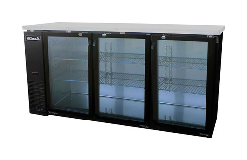 Migali C-BB72G-HC Competitor Series 72″ Glass Door Back Bar Refrigerator