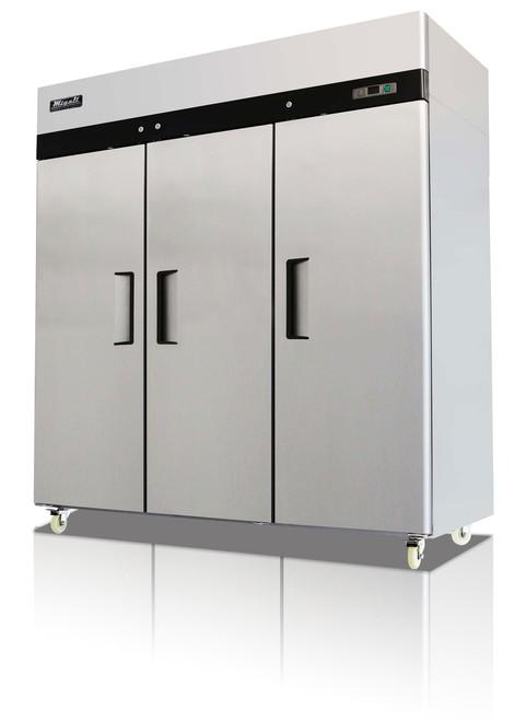 Migali C-3F Competitor Series 3 Door Stainless Steel Reach-In Freezer