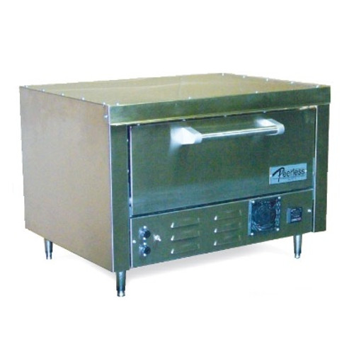 "Peerless  B121 1 Deck Electric Stainless Steel Commercial Counter Model Bake Ovens | Countertop Pizza Ovens with One 27"" x 19"" Hearth Deck"