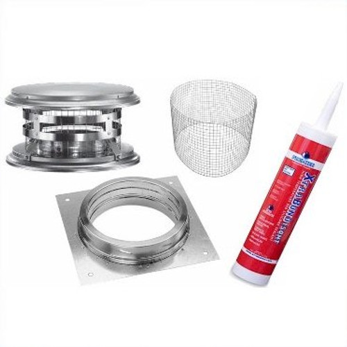 "BrickWood Ovens 6"" DuraTech Exhaust Kit"