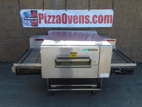 """Lincoln 1600_PO Single, Double or Triple Deck 1600 Series Pre-Owned/Remanufactured Impinger Low Profile Gas/Electric Conveyor Pizza Ovens with 40"""" Baking Chamber and 32 inch Wide Conveyor Belt Per Oven 