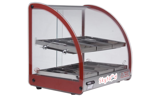 "Skyfood FWD2-18R 18"" Food Warmer Display Case- Red"