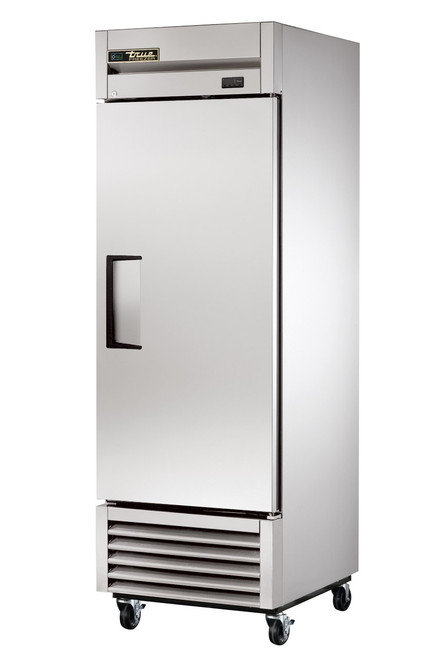 """True T-Series T-23F-HC One Section Solid Hinged Door Bottom Mounted 23 cu ft 27""""W Stainless Steel Reach-In Freezers  with 1 Swing Door, 3 Shelves and R290 Refrigerant"""