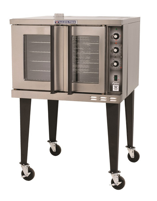Bakers Pride BCO-E1 Full Size One (1) Deck Stainless Steel Cyclone Series Electric Convection Ovens | Single-Stacked Pizza Ovens with Thermal Glass, Independent Doors & Energy Star