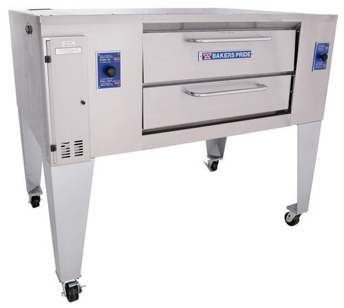 "Bakers Pride DS-805 One 6.75"" Deck High Super Deck Series Stainless Steel Gas Pizza Bake Ovens 