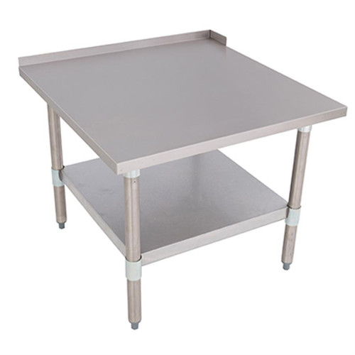 """Bakers Pride HDS-30L Stainless Steel 30"""" x 30"""" Heavy-Duty Equipment Stand with Bottom Shelf and Bullet Feet 