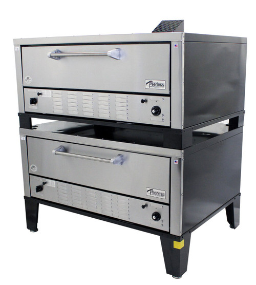 Peerless CW200P Double Stack Gas Deck Pizza Oven
