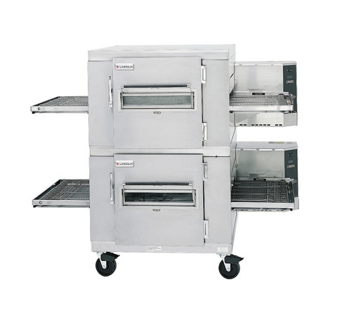 """Lincoln 1453-000-U Single or Double Deck Impinger I Electric Conveyor Pizza Ovens with 40"""" Long Baking Chamber and 32 inch Wide Conveyor Belt Per Oven 120/240V   1 or 2-Stacked Ovens"""