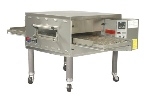 """Middleby PS536GS-1 Direct Gas Fired Impingement Plus Commercial Conveyor Ovens with 36 inch Long Cooking Chamber and 18"""" Wide x 60"""" Long Conveyor Belt   Single-Stacked Pizza Ovens"""