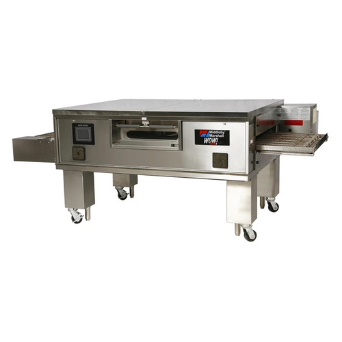 "Middleby PS670G Direct Gas Fired WOW! Impingement PLUS Commercial Countertop Conveyor Ovens with 70 inch Long Cooking Chamber and 32"" Wide x 106"" Long Conveyor Belt 