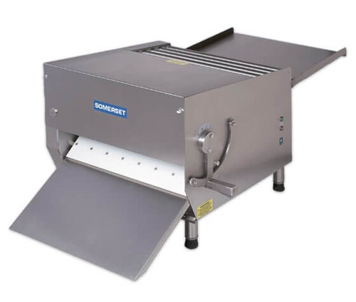 """Somerset CDR-700M Heavy Duty Electric Countertop Dough Sheeters with 20"""" Metallic Rollers / Single Pass"""