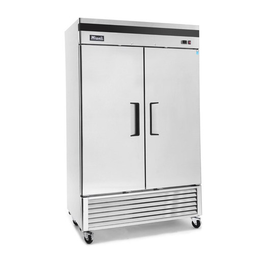"""Migali C-2RB-HC - Two Section Solid Hinged Door 49 cu ft 54.4""""W Stainless Steel Competitor Series Bottom Mounted Reach-In Refrigerators 