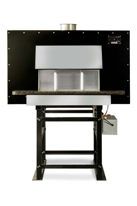 """Earthstone 90-Due-PAGW Pre-Assembled Gas / Wood Fired Commercial Pizza Ovens with Pierre de Boulanger 