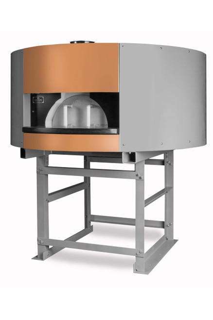 "Earthstone 120-PAGW Pre-Assembled Terra Pietra Series Naples Style Gas/Wood Fired Commercial Pizza Ovens with Pierre de Boulanger | Bake Ovens with Bakers Tiles, 4 (12"") Pizza Capacity, 47 inch Cooking Diameter & 19.5""W x 9.75""H Oven Entrance 130000 BTU"
