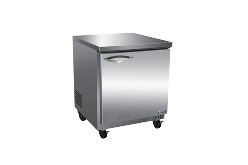 """Ikon IUC28R One Section Solid Hinged Door 1 Shelf 6.5 cu ft 27.8""""W Stainless Steel Rear Mounted Undercounter Reach-In Refrigerators by MVP Group Corp   6.5 cubic feet 27.8 inch wide Under-Counter Fridge with Single Swing Door and R600A Refrigerant"""