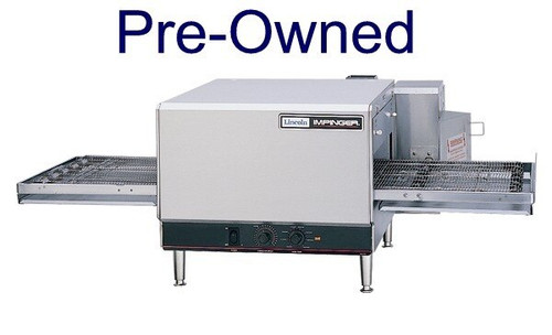 """Lincoln 1300_PO Single or Double Deck 1300 Series Pre-Owned Impinger I Gas/Electric Conveyor Pizza Ovens with 20"""" Long Baking Chamber and 16 inch Wide Conveyor Belt Per Oven 