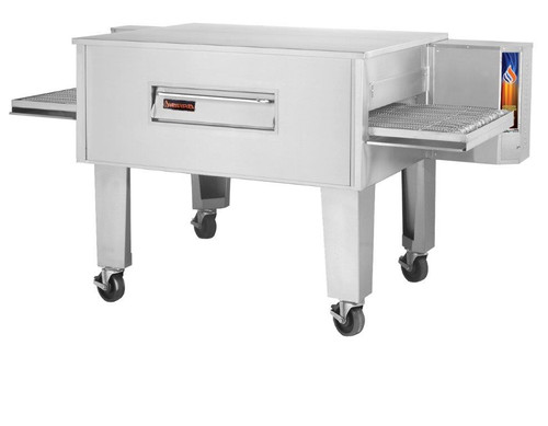 """Sierra Range C3260G Single Stack Stainless Steel Gas Conveyor Pizza Ovens by MVP Group Corp 