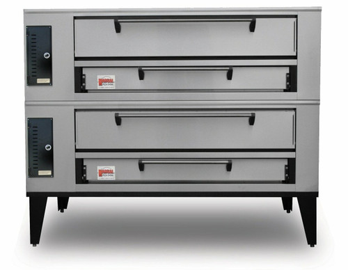 """Marsal SD-866 Stacked Two 7""""H x 44"""" x 66"""" Baking Chambers Commercial Gas Double Deck Pizza Ovens 