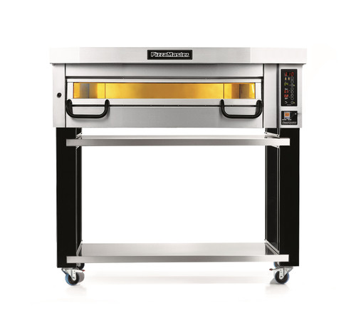 """PizzaMaster PM821ED 800 Series One Deck Electric Modular Pizza Ovens with Two 16""""W Stone Hearth 