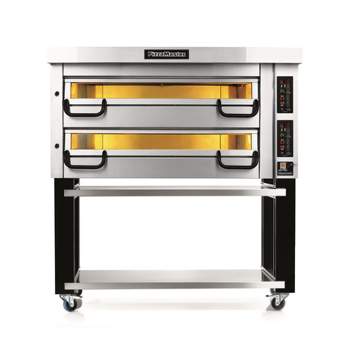 """PizzaMaster PM832ED 800 Series Two Deck Electric Modular Pizza Ovens with Three 16""""W Stone Hearth per Deck 