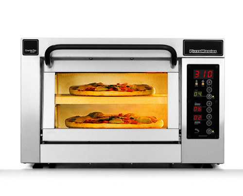 """PizzaMaster PM551ED-1 550 Series 21.1"""" Standard Width One Chamber Two Stone Hearth Electric Countertop Pizza Ovens   Single Deck Counter Top Pizza Ovens with 1 Chamber, 2 Stones, Electronic Control & Digital Display"""