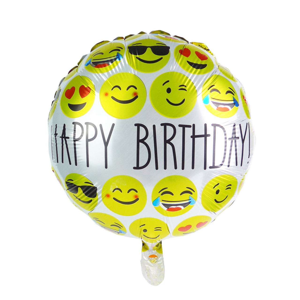 18 Inch Round Happy Birthday Emoji Balloon 989821509446398c2imbypasson