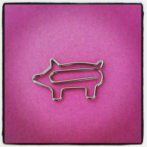 Animal Paperclips (Piggie 20 pieces)