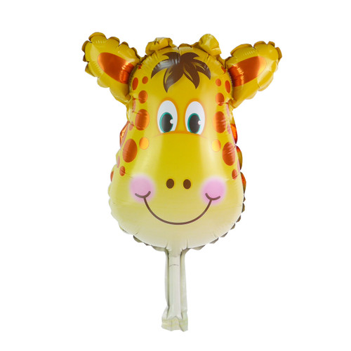 "Mini 14"" Giraffe Head Cartoon Animal Balloon"
