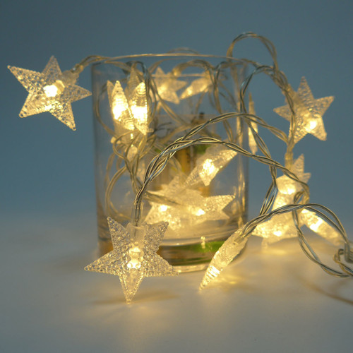 LED String Light- Star Shape (5m 40 LED/ 2.5m  20 LED in Warm White)