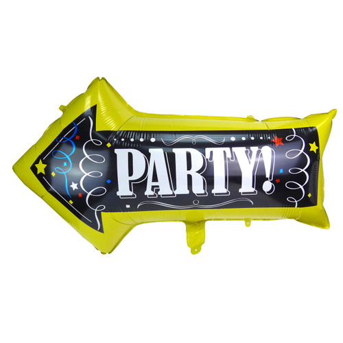 "30"" Party Sign Signage Large Arrow Shape Foil Balloon"