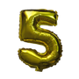 Number Balloons (Gold 5)