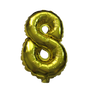 Number Balloons (Gold 8)