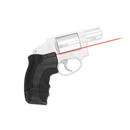 Crimson Trace Lasergrips S&W J-Frame Round Butt Laser Sight LG-350