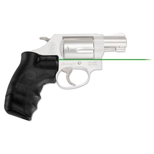 Crimson Trace Lasergrips S&W J-Frame Round Butt Laser Sight Green LG-350G-S