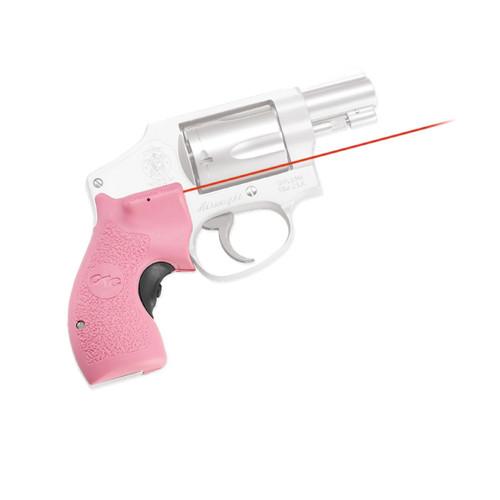 Crimson Trace Lasergrips S&W J-Frame Round Butt Laser Sight Pink LG-105-PINK-S